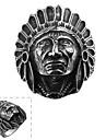 классический щедрый и не использует декоративный камень мужской индийский череп кольцо из нержавеющей стали (черный) (1шт)