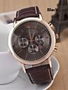 Men's Fashion Diamond Three Eyes Quartz Analog Leather Bracelet Watch(Assorted Colors) Cool Watch Unique Watch