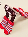 Cat Dog Socks Casual/Daily Keep Warm Winter Spring/Fall Stripe Multicolor Cotton