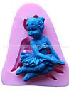 천사 소녀 모양의 금형 퐁당 케이크 장식 금형
