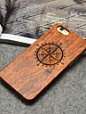 Wooden iphone Case Compass the North Carving Concavo Convex Hard Back Cover for iPhone 5/5s