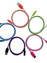 йеллоунайф яблоко MFI сертифицированное молнию USB-кабель многоцветной кос для Iphone 7 6s плюс SE 5с / Скины синхронизации и зарядки