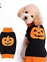 Cat / Dog Coat / Sweater / Clothes/Clothing Black / Orange Winter Cartoon Wedding / Cosplay