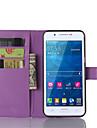 Pour Samsung Galaxy Coque Porte Carte Avec Support Clapet Magnetique Coque Coque Integrale Coque Couleur Pleine Cuir PU pour SamsungA8 A7