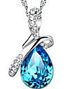 Femme Colliers Vintage Goutte Argent sterling Alliage Mode Bleu marine Bijoux Pour Quotidien Decontracte Sports 1pc
