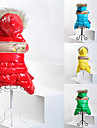 Cat / Dog Coat / Hoodie Red / Green / Blue / Yellow Winter Sport Cosplay