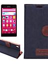 Pour Coque Sony / Xperia Z3 Porte Carte / Avec Support / Clapet Coque Coque Integrale Coque Couleur Pleine Dur Cuir PU pour SonySony
