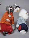 Cat / Dog Coat / Sweater / Pants Blue / Yellow / Gray / Orange Dog Clothes Winter Letter & Number Wedding / Cosplay