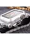 Groupe de montre pour Apple Watch 38mm boucle de papillon 42mm bracelet en metal avec connecteur
