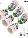 YouOKLight® 6PCS E27 to E14 Light Lamp Bulb Adapter Converter - Silver + White