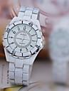 L.WEST Men\'s Steel Belt Pointer Imitation Ceramic Quartz Watch Wrist Watch Cool Watch Unique Watch