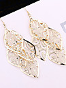 European and American trade exaggerated fashion simple elegant alloy leaf earrings