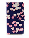 For Samsung Galaxy Case Card Holder / with Stand / Flip / Pattern / Magnetic Case Full Body Case Heart PU Leather Samsung A5 / A3