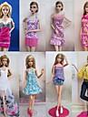 8 stk Barbie Doll Søde prinsesse Urban Leisure Style Costume