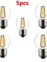 5pcs G45 4w e27 400lm 360 градусов теплый / холодный белый цвет Edison света с лампой накаливания светодиодные лампы накаливания (AC220V)