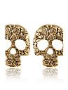 스터드 귀걸이 패션 개인 유럽의 합금 Skull shape 실버 브라운 보석류 용 2pcs
