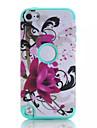 padroes de lotus de alta qualidade snap-on pc + silicone hibrido combinacao tampa da caixa de armadura para o iPod touch 6 (cores