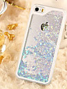 Transparent Color Small Fresh Perspective Quicksand PC Material Phone Case for iPhone 5/5S (Assorted Colors)