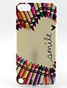 연필 미소 회화 패턴은 아이팟 터치 5 터치 소프트 케이스 TPU (6)