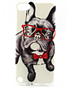 Glasses Dog Painting Pattern TPU Soft Case for iPod Touch 5