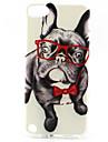 padrao de oculos pintura do cao TPU soft case para o iPod touch 5
