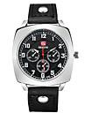 Fashion Casual Men's Leather Band Quartz Wristwatch Wrist Watch Cool Watch Unique Watch
