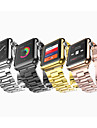 Watch Band for Apple Watch 38mm 42mm Three Beads Butterfly Buckle Strap