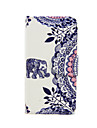 Elephant Pattern PU Leather Full Body Case with Card Slot and Stand for iPhone 5C