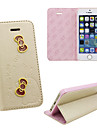 iPhone 5 PU leather cover Disney Hello Kitty Butterflies gold with a free Headfore HD Screen Protector for iphone5/5s