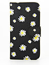 For Samsung Galaxy Case Wallet / Card Holder / with Stand / Flip Case Full Body Case Flower PU Leather Samsung S6 edge plus / S6 edge / S6