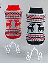 Cat / Dog Sweater Red / Black Dog Clothes Winter Deer Casual/Daily / Christmas