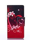 Для Кейс для  Samsung Galaxy Бумажник для карт / Кошелек / со стендом / Флип / С узором Кейс для Чехол Кейс для С сердцемИскусственная
