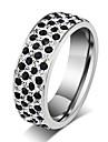 Классические кольца Титановая сталь Мода Серебряный Бижутерия Для вечеринок Повседневные 1шт