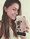 maycari®traveling en la playa de TPU transparente trasera para el iPhone 5 5s / iphone
