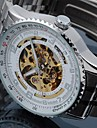 Men's Alloy Analog Mechanical Wrist Watch (Sliver) Cool Watch Unique Watch