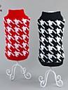 Коты / Собаки Свитера Красный / Черный Одежда для собак Зима геометрический На каждый день / Новый год