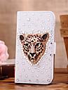 Для Кейс для  Samsung Galaxy Бумажник для карт / Стразы / Флип Кейс для Чехол Кейс для Животный принт Искусственная кожа SamsungS7 edge /