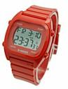 Hommes Bracelet Montre Numerique LCD / Calendrier / Chronographe / penggera Caoutchouc Bande Blanc / Bleu / Rouge / Vert Marque-