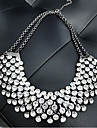 Women\'s European Style Fashion Metal Shining Rhinestone Necklace