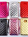 botao de Bling do diamante de luxo verifique a superficie brilhante pu carteira de couro caso suporte para Samsung Galaxy nota 3 / nota 4