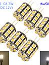 7W G4 LED лампы типа Корн T 27 SMD 5050 600 lm Тёплый белый Холодный белый Декоративная DC 12 AC 12 V 6 шт.