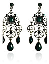 Drop Earrings Resin Silver Plated Drop Green Jewelry Party Daily Casual 2pcs