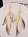 Earring Leaf Drop Earrings Jewelry Women Wedding / Party / Daily / Casual Alloy 2pcs Gold / Silver