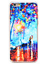 Oil Painting Park Pattern Transparent PC Back Cover for iPhone 6