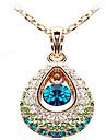 Women\'s Pendant Necklaces Crystal Cubic Zirconia Rhinestone Drop Fashion Screen Color Jewelry