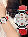 Women\'s Fashion Watch Quartz Leather Band Luxury Black White Red Strap Watch
