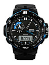 Skmei® Men's Big Size Dial Dual Time Zone Outdoor Sports Multifunction Wrist Watch 50m Waterproof Assorted Colors Cool Watch Unique Watch