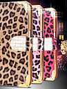 For Samsung Galaxy Case Wallet / Card Holder / Rhinestone / with Stand / Flip Case Full Body Case Leopard Print PU Leather SamsungS6 edge
