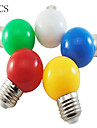5pcs a conduit la couleur de l\'ampoule e27 1w 100lm petite ampoule en plein air decoratif lumineux colore lumieres de noel