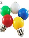 1W E26/E27 Круглые LED лампы A60(A19) 8 SMD 2835 50 lm Холодный белый Декоративная AC 220-240 V 5 шт.